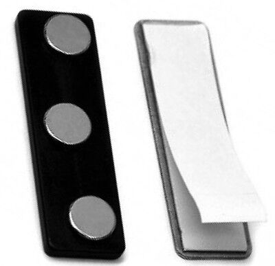 2 New Name Badge Tag Magnet Fasteners Strong Doublestick Tape W Easy Tab