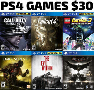PS4 Games For Sale or Trade - $30 Each