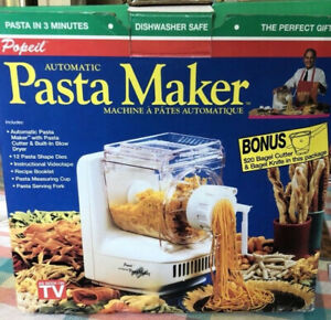 New, Ronco Pasta Maker Complete Set Of Dies ,recipes,instruction