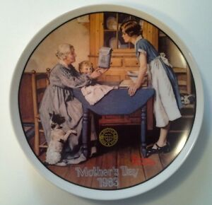 Vintage Norman Rockwell 1983 Mother's Day Collector Plate
