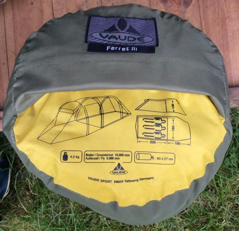 VAUDE FERRET III - 3 PERSON TENT & VAUDE FERRET III - 3 PERSON TENT | in Wilton Wiltshire | Gumtree
