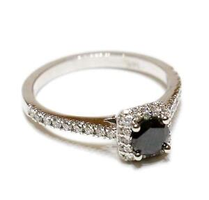 JUST $1249 FOR THIS 1.00 CT BLACK DIAMOND ENGAGEMENT RING IN 14K GOLD???