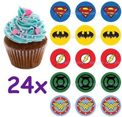tman Superman Eßbar Tortenbild Party Deko Muffinaufleger neu (Justice League Kuchen)