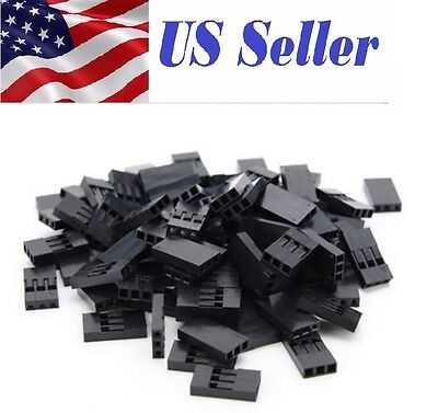 100pcs 3p Pitch Dupont Jumper Wire Cable Housing Female 3 Pin Connector 2.54mm