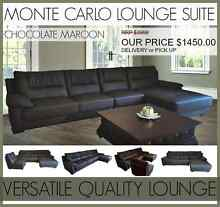 Brand New Chocolate Brown Micro Fibre Leather Lounge Sofa Modular Mount Kuring-gai Hornsby Area Preview