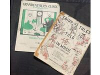 Vintage Joblot Children's Piano Sheet Music: Grandfathers Clock; Fairytales Told In Music