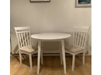 Beautiful Cream Table with 2 Chairs