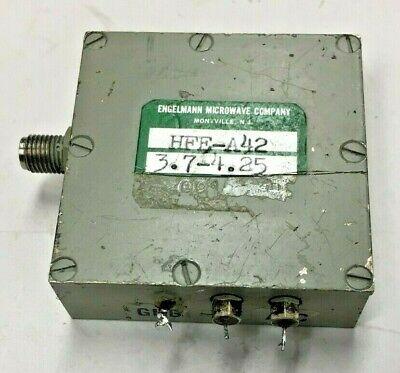Engelmann Microwave Hfe-a42 Rf Oscillator Source 3.7- 4.25 Mhz Sma