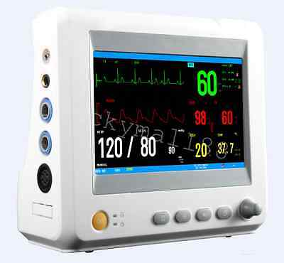 Us Medical Patient Monitor 6 Parameters Ecg Nibp Temp Spo2 Vital Signs Color Lcd