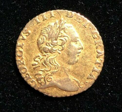 ENGLAND 1762 Quarter Guinea, George III Gold Coin AU, S-3741, 1-Yr Type, Britain
