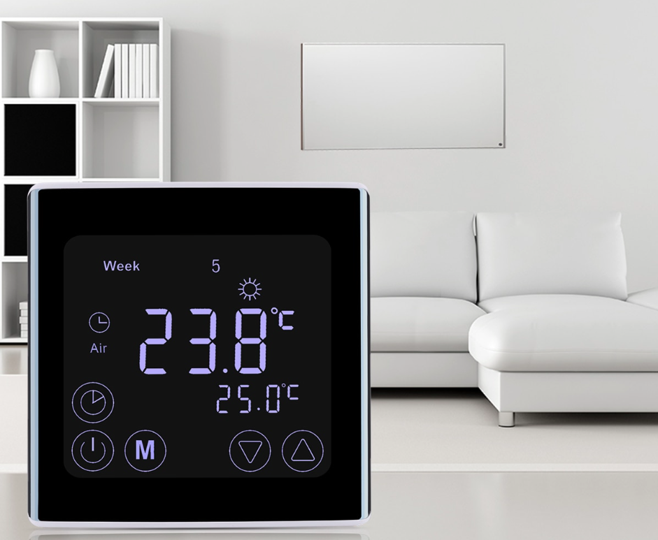 Water Heating Touch Screen LCD Display Room Thermostat for G