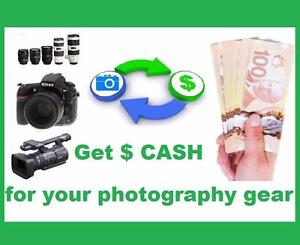 Wanted / We are Buying all Nikon Canon Sony DSLR camera lens camcorder. Sell your camera gear to us. We Pay Cash