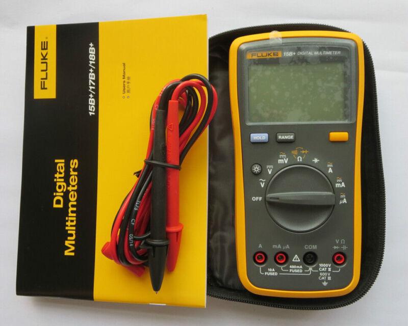 FLUKE 15B+ F15B+ Digital Multimeter Meter New LED backlight USA Seller