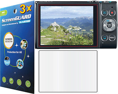 3x Clear LCD Screen Protector Canon PowerShot ELPH 350 360 HS (IXUS 275 285 HS)