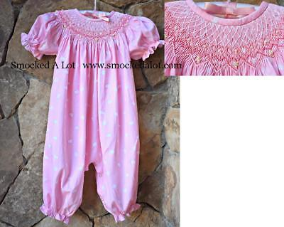 Smocked A Lot Girls Bubble Valentine's Day Heart Fabric Pink Pearls Hearts Dress](Girls Valentine Dresses)