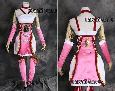 H-3081 Gr. M  FF Final Fantasy XIII Serah Farron Cosplay Kostüm rosa Pink - Serah Cosplay Kostüm