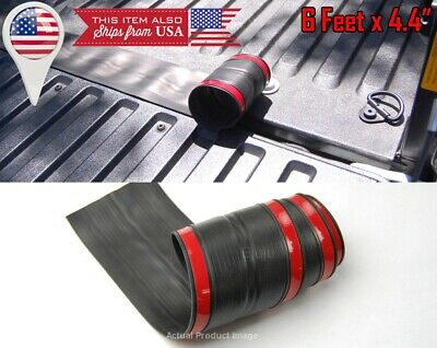 """6' x 4.4"""" Universal Rubber Truck Bed Tailgate Gap Cover Filler Seal Shield Cap"""