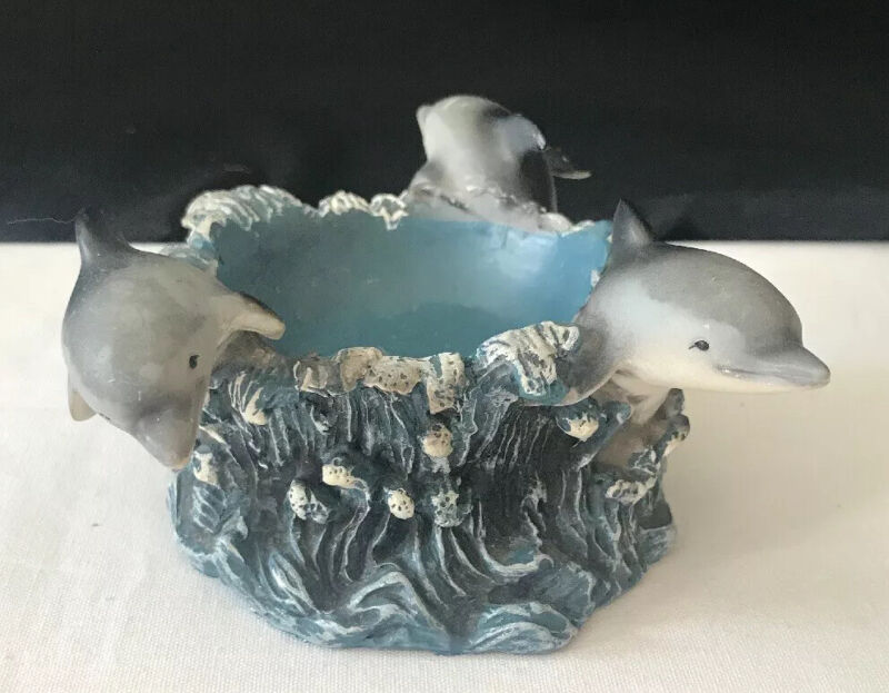 Decorative Candle Holder Dolphins