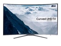 """Samsung UE49KU6500 Curved HDR 4K Ultra HD Smart TV, 49"""" with Freeview HD/Freesat HD Silver"""