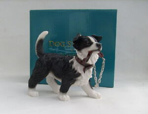 Leonardo Collection Walkies Border Collie Ornament Dog Figure
