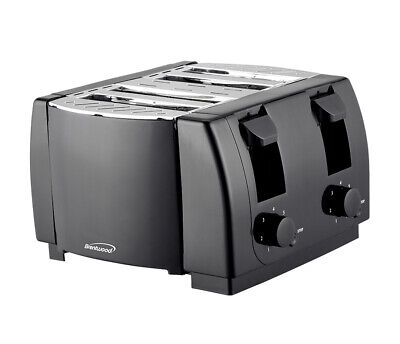 Characterize NEW Brentwood TS-285 Cool Touch 4 Slice Toaster, Black