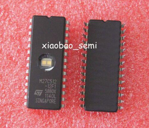 100pcs M27C512-12F1 27C512 CDIP-28 EPROM UV ST