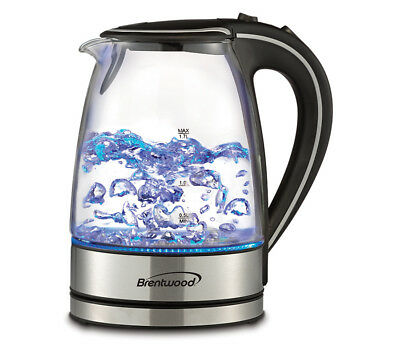 Brand New Brentwood Kt 1900Bk 1 7L Cordless Glass Electric Kettle  Black