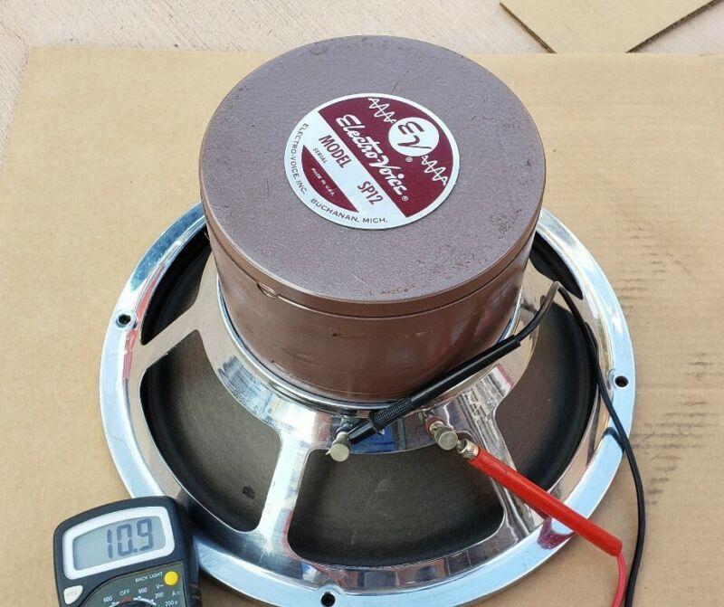 """EV ELECTRO-VOICE ORIGINAL SP12 16 OHM 12"""" Woofer SPEAKER Works"""