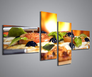Quadro moderno pizza iii quadri moderni 160x70 cm stampe for Arredamento pizzeria moderno