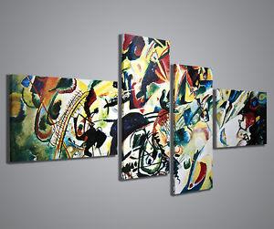 Quadri moderni kandinsky i quadro moderno 160x70 cm for Stampe arredo