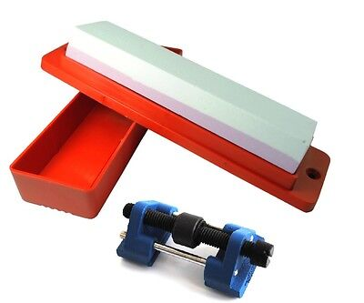 Oilstone, Box & Honing Guide Chisel Plane Blade Kit Sharpening Woodworking W3334
