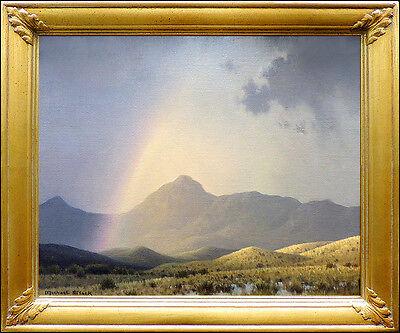MICHAEL STACK Original OIL PAINTING on CANVAS Signed Landscape Art AUTHENTIC