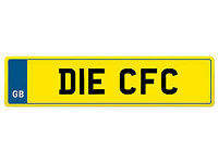 Private Registration Plate **DIE CFC** Cardiff, Chelsea, Carlisle, Celtic