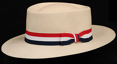Hat band 31 Red White Blue - Men Ladies Sun Panama Hat fedora Replacement strap