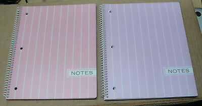 Carolina Pad Pearl Stripe 1 Subject Notebook 2 Pack 91179 Assorted Colors