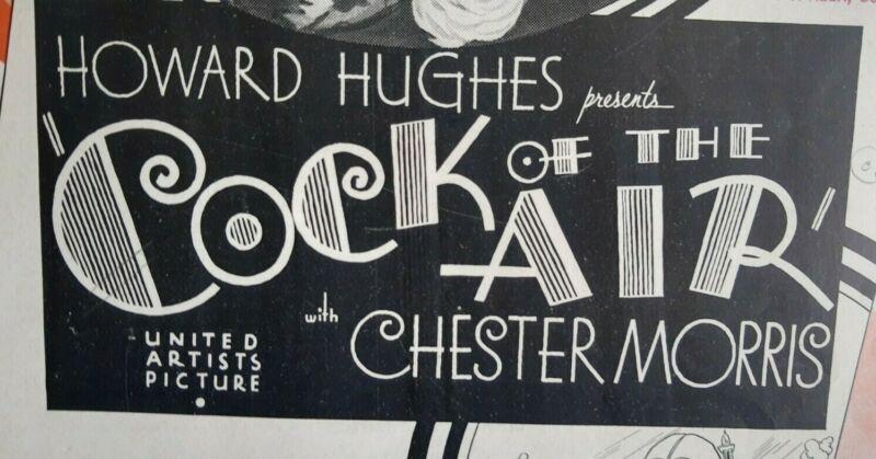 COCK OF THE AIR - 1932 HOWARD HUGHES - Pre-Code Deco PRESSBOOK ***RARE***