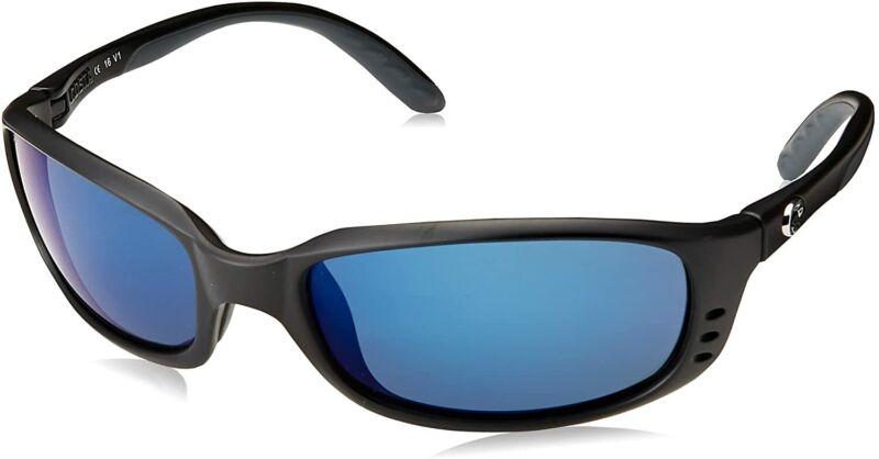 Costa Brine Matte Black Frame-Blue Mirror 580P