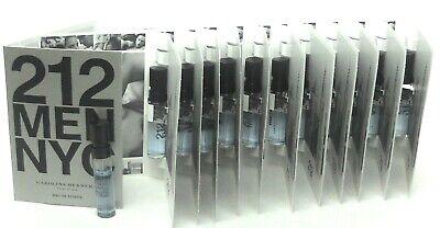 212 MEN NYC Carolina Herrera EDT Spray Sample Vials PACK of 12 pcs.Sealed Bag