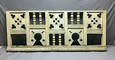 Antique Victorian Porch Gingerbread Railing Span Gray Architectural Old 590-21B