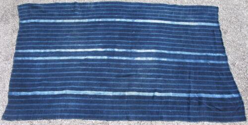 Vintge African indigo cloth Mossi People Burkina Faso cotton 36x60in #11708 blue