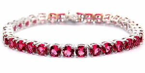 Silver Ruby 8.25ct Tennis Bracelet (925)