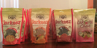 Flavored Chewy Dog Treats - Exclusively Dog Jerkeez/LickOrish Chewy Dog Treats (7 oz.) - 4 Flavors Available