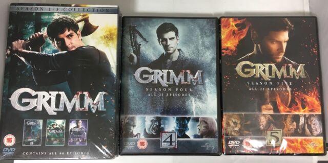 GRIMM COMPLETE SEASON 1 2 3 4 5 BOXSET 29 DISCS R4 NEW & SEALED! 1-5