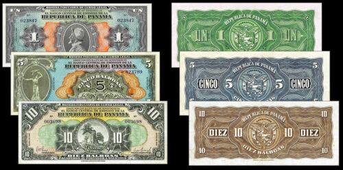 !COPY! RARE PANAMA 1, 5, 10 BALBOA 1941 BANKNOTES !NOT REAL!