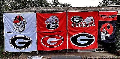 (UG University Georgia Bulldogs 3X5 NCAA Sports Flag Football Banner)