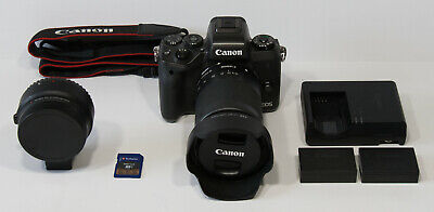 Canon EOS M5 Digital Camera w/ 18-150mm Zoom Lens and extra Canon LP-E17 Battery