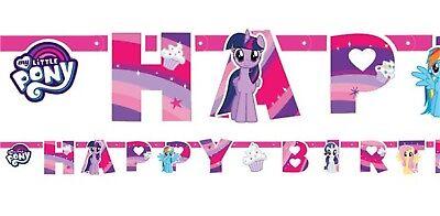 Mädchen Mein Kleines Pony Pink Feier Geburtstagsparty Banner Wimpel Dekoration ()
