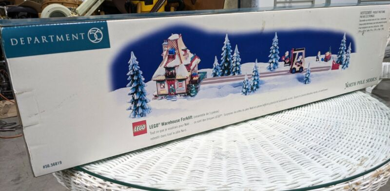 DEPT 56 North Pole Series LEGO WAREHOUSE FORKLIFT Set Of 5 56819 Retired New!