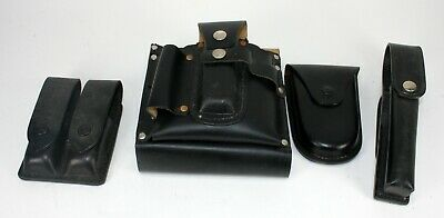 Vintage Police Law Enforcement Leather Utility Belt Lot - Jay Pee Dutyman