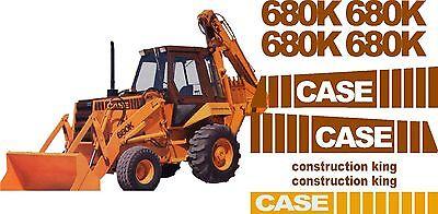 Case 680k Loader Backhoe Construction King Decals Sticker Set 680